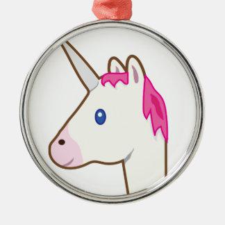 Unicorn emoji christmas ornament