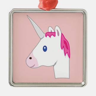 Unicorn emoji christmas ornament