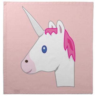 Unicorn emoji napkin