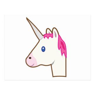 Unicorn emoji postcard