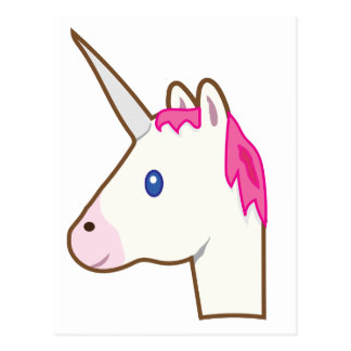Unicorn emoji postcard