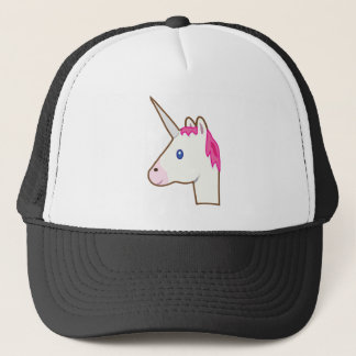 Unicorn emoji trucker hat