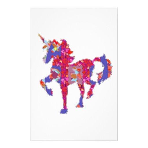 UNICORN :  Exotic Adventure Animal World Graphic Customized Stationery