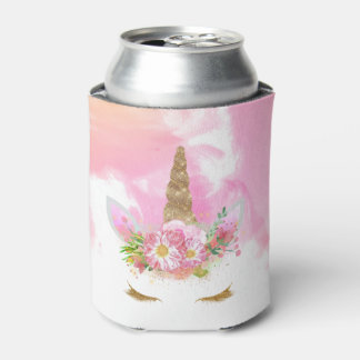 Unicorn Face Can Cooler