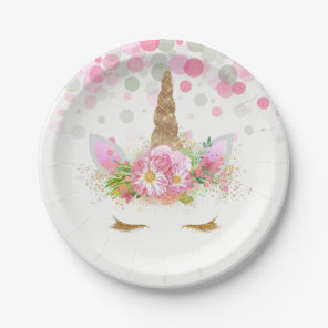 Unicorn Face Unicorn Paper Plates