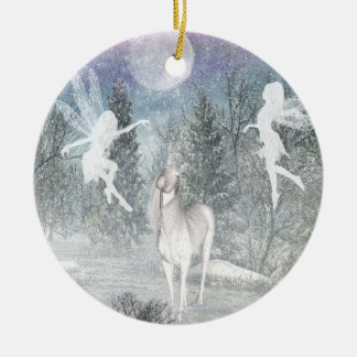 Unicorn Fae magic Christmas Ornament