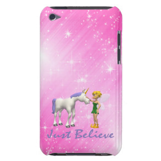Unicorn & Fairy Just Believe Barely There iPod Cases
