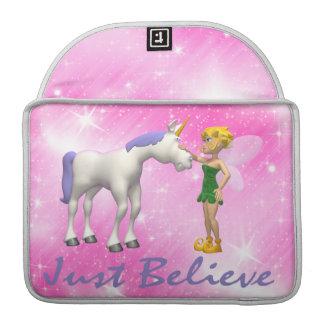 Unicorn & Fairy Just Believe Sleeve For MacBook Pro