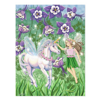 Unicorn Fairy Postcard