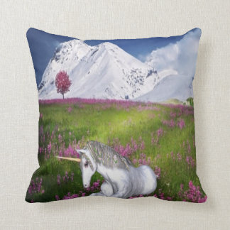 unicorn fantasy throw pillow