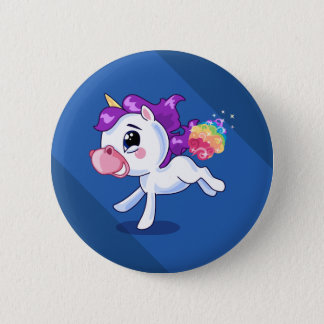 Unicorn Farts 6 Cm Round Badge