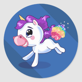 Unicorn Farts Classic Round Sticker