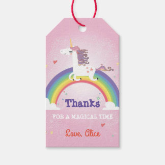 Unicorn Favor Tag - PINK