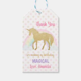 Unicorn Favor Tag, Unicorn Thank You Tag