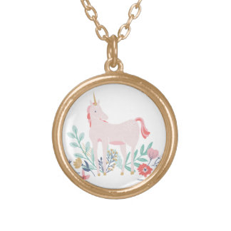 Unicorn Fields Gold Plated Necklace