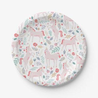 Unicorn Fields Paper Plate