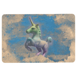 Unicorn Floor Mat (Sandy Blue)