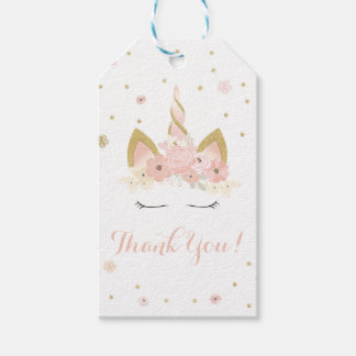 Unicorn Floral Gift Tag