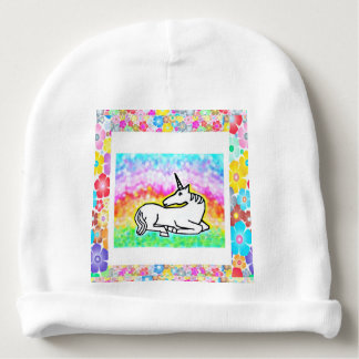 Unicorn Flowers - Baby Hat Baby Beanie