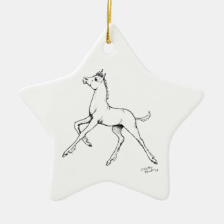 Unicorn Foal Christmas Ornament