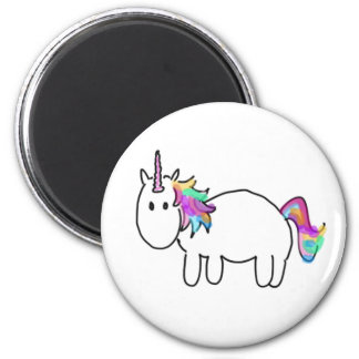 Unicorn for you 6 cm round magnet
