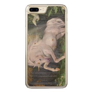 Unicorn Forest Stars Cristal Blue Carved iPhone 8 Plus/7 Plus Case