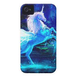 Unicorn Forest Stars Cristal Blue iPhone 4 Case