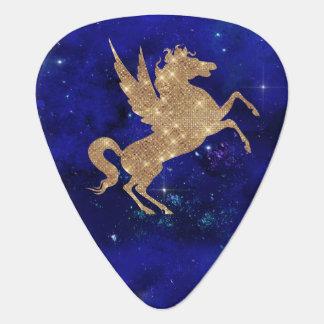 Unicorn Galaxy Stars Blue Night Sky Guitar Pick
