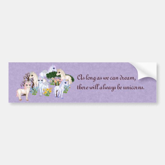 Unicorn Garden Pixel Art Bumper Sticker