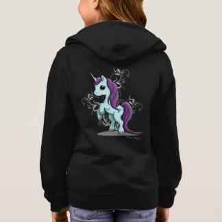 Unicorn Girl's Zipup Hoodie Sweatshirt
