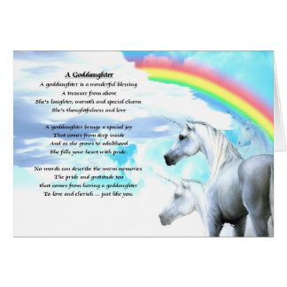 Unicorn Goddaughter Poem Card