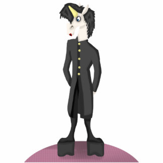 Unicorn Goth Cutout Sculpture Acrylic Cut Out