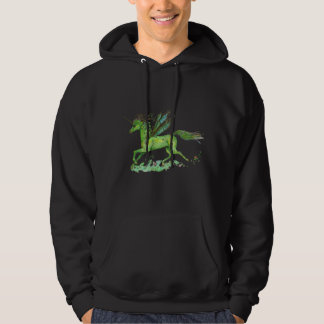 Unicorn Green Winged Pegasus Plant Horse Pony Hoodie