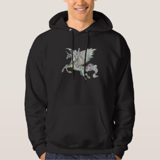 Unicorn Green Winged Pegasus Rainbow Horse Hoodie