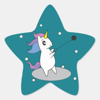 Unicorn Hammer Throw Stickers