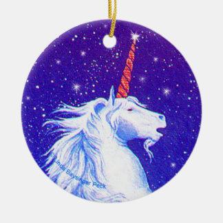 Unicorn Head Christmas Ornament