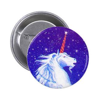 Unicorn Head with Blue 6 Cm Round Badge