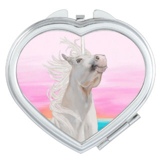 Unicorn Heart Compact Mirror