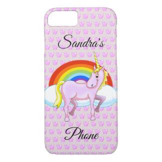 Unicorn & Hearts Cell Phone Case