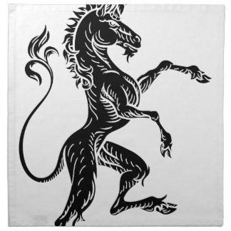 Unicorn Heraldic Crest Coat of Arms Napkin