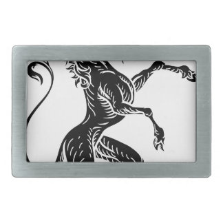 Unicorn Heraldic Crest Coat of Arms Rectangular Belt Buckle