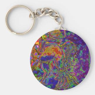 Unicorn Horse and Pony Basic Round Button Key Ring