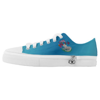 Unicorn Horse Butterflies And Flowers Low Tops