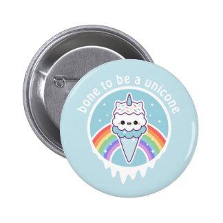 Unicorn Ice Cream Cone 6 Cm Round Badge