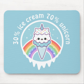 Unicorn Ice Cream Cone Mouse Mat