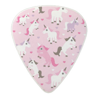unicorn illustration kids background acetal guitar pick