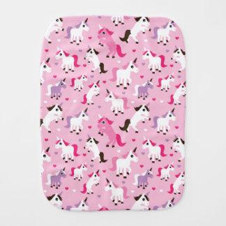 unicorn illustration kids background burp cloth