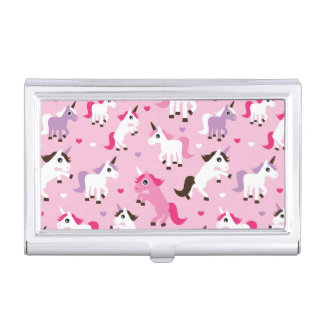 unicorn illustration kids background business card holder