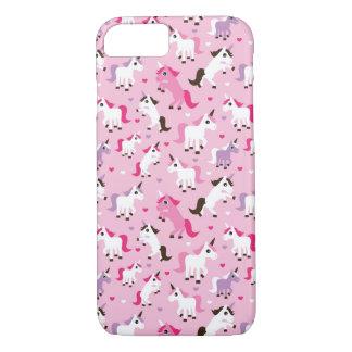 unicorn illustration kids background iPhone 7 case