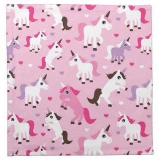 unicorn illustration kids background napkin